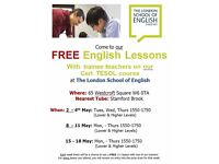 FREE English lessons for 3 weeks!