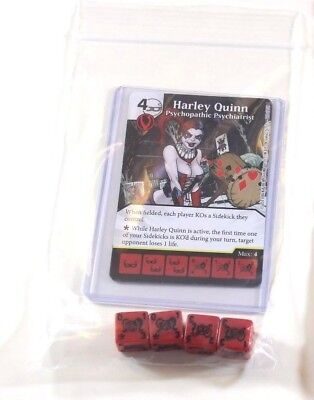 DC Dice Masters Justice League * HARLEY QUINN Set RARE CUR 4 Dice New