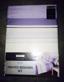 Blue & White Striped Single Duvet Set, Cover & Pillowcase. Brand New in Packet