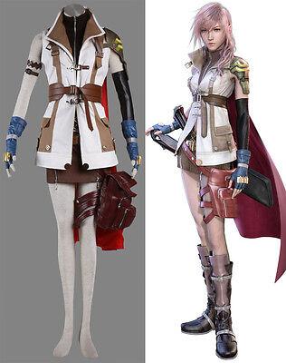 FINAL FANTASY XIII FF 13 FFXIII Lightning Eclair Farron Cosplay costume - Lightning Ff Kostüm