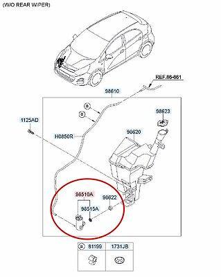 Genuine Kia Rio 2011-2016 Windscreen Washer Pump 985101W000