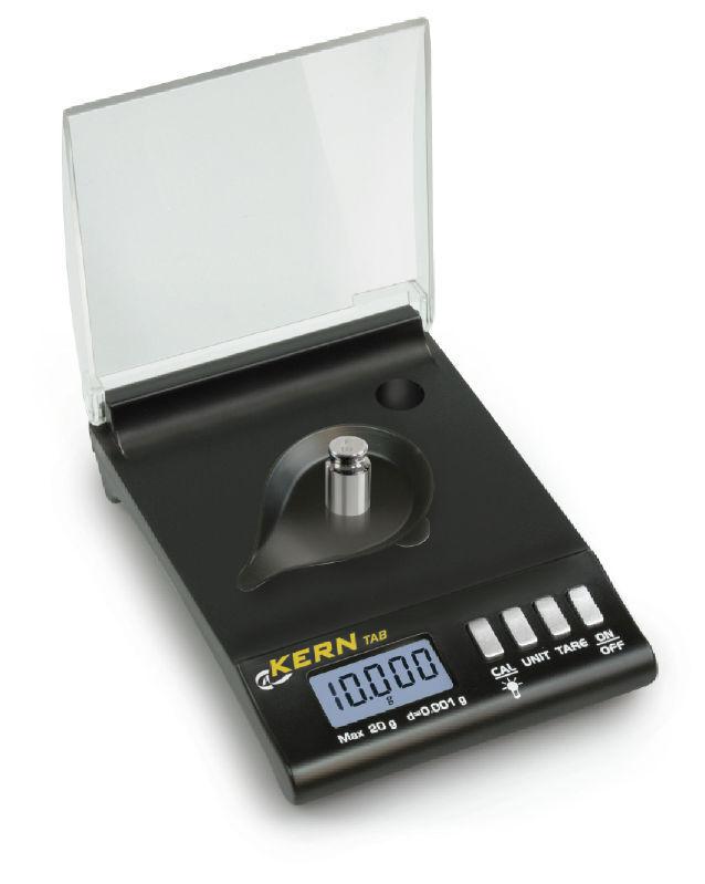 Kern TAB 20-3 Karat Taschenwaage mit 20 Gramm Wägebereich - Teilung 0,001 g