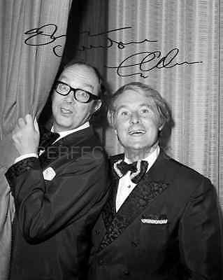 ERIC MORECAMBE AND ERNIE WISE SIGNED 10X8 PP REPRO PHOTO