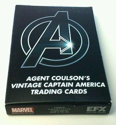 Marvel Agent Coulson's Vintage Captain America Trading Cards Movie Prop Replica