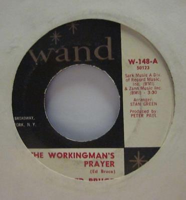 "Ed Bruce(7"" Vinyl)The Workingsman's Prayer-Wand-W 148-US-VG/Ex"
