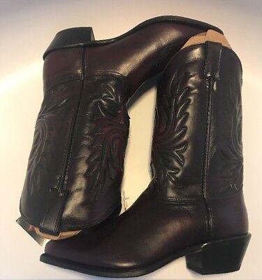 Abilene Men's Cherry Classic Western Cowboy Boots 6461 size 11.5 D NEW in Box