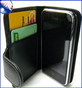 iPhone 3GS 3G Wallet Credit Card Flip Leather Pouch Case Cover