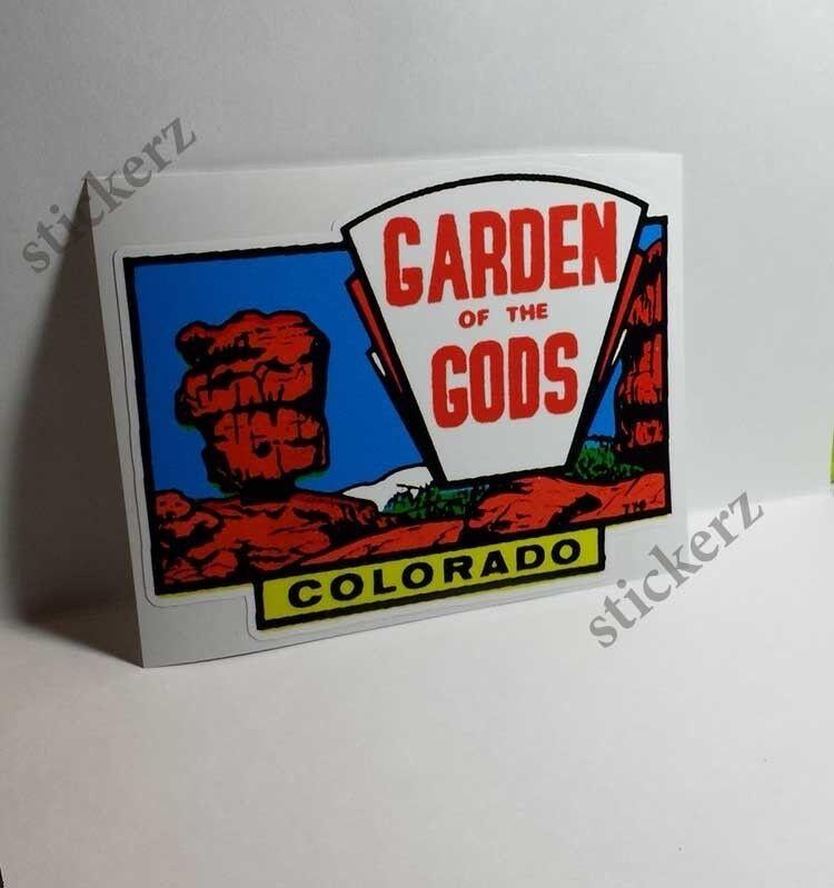 Colorado Garden of the Gods Vintage Style Travel Decal, Vinyl Sticker