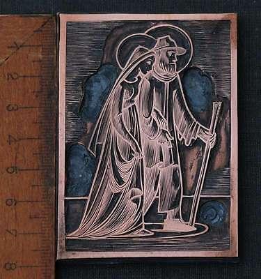 MARIA UND JOSEF Galvano Druckstock Kupferklischee Druckplatte Druck Eichenberg