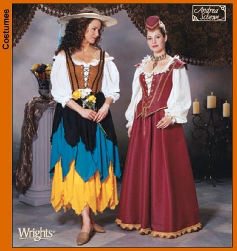 2 STYLES VARIATION RENAISSANCE COSTUMES SEWING PATTERN Misses 12-14-16-18-20 - $5.98