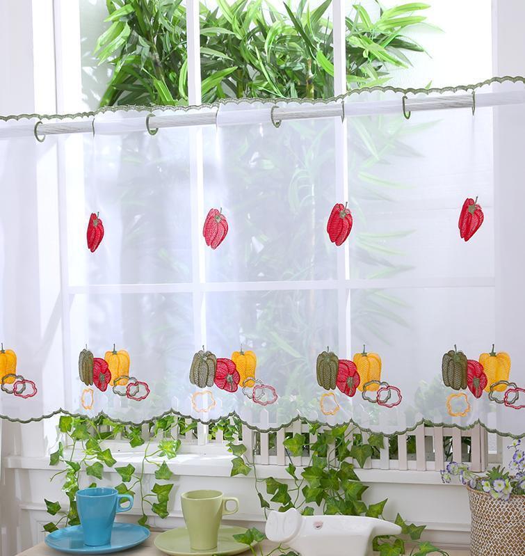 """Voile Cafe Net Curtain Panel ~ D16 CRAZY FISH ~ 12/"""" /& 18/"""" 24/"""" Drop"""
