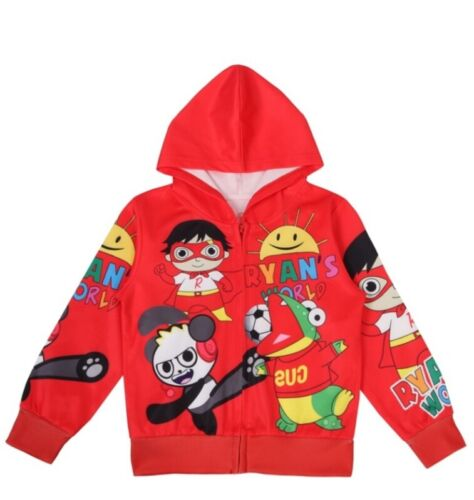 Ryans World 3 Designs Hooded Zipper Jacket  for Boys and Girls size- 4/5, 6 & 7