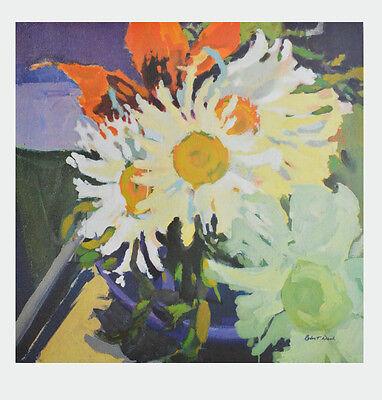 Robert Dash Kunstdruck Poster Bild hochwertiger Lichtdruck Margeriten 90x85cm