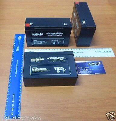 6V 12Ah Rechargeable Valve Regulated Sealed Lead Acid Battery 20HR VRLA SLA AGM Valve-regulated Lead