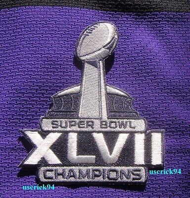 Super Bowl Superbowl 47 XLVII Champions Baltimore Ravens Patch Baltimore Ravens Super Bowl Champions