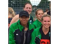 GA AND GS NETBALL PLAYERS NEEDED FOR SEVERAL TEAMS. BEGINNERS WELCOME