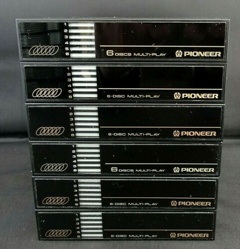Pioneer PRW1141 6 Compact Disk Magazine Car Or Home Lot Of 6