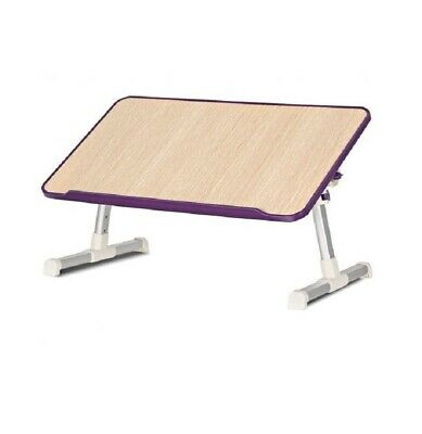 Portable Adjustable Laptop Lap Desk Folding Laptop Computer Table Purple w/ Fan ()