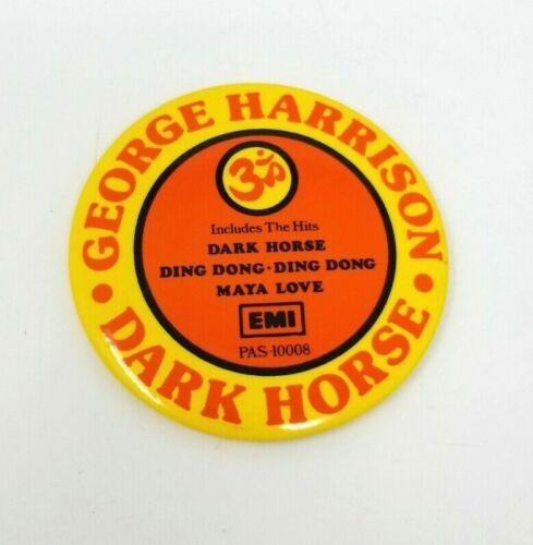 "The Beatles George Harrison Dark Horse EMI 1974 3.5"" Pinback Button Pin EUC"