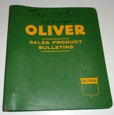 Oliver 60 Tractor Parts Catalog Book In Binder Row Crop Standard Industrial Nos