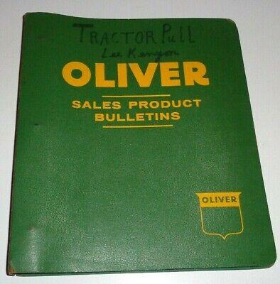 Oliver 60 Tractor Parts Catalog Book In Binder Row Crop Standard Industrial Nos