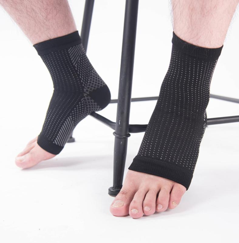 Unisex Kompressions Socken Sport Running Stützstrümpfe Fersensporn Knöchelstütze