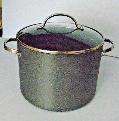 Anolon Professional Hard Anodized Non Stick 8 Quart Stockpot With Glass Lid Anolon Non Stick Stock Pot