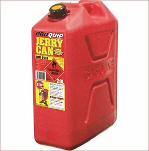 JERRY CAN 20 L LT TOUGH RED PLASTIC 20 LITRE PETROL DIESEL FUEL +POURER APPROVED