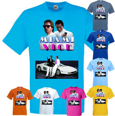 Movie 4t (Miami Vice v4 T shirt movie poster all colors all sizes)