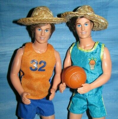 Beach Basketball Shirts Short Hats brown Rooted Hair Mod Ken doll Cali Hip lot