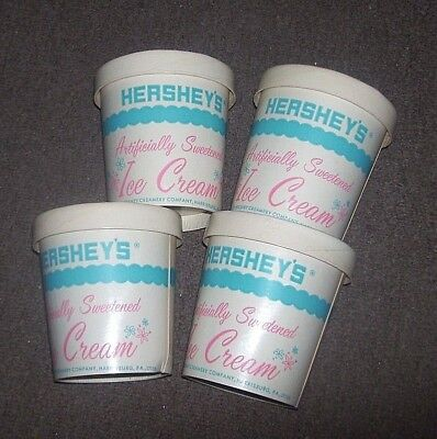 4 VINTAGE CARDBOARD HERSHEYS ICE CREAM CONTAINER  PA ONE PINT - Ice Cream Containers