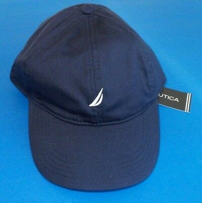 Nautica Women's Baseball Cap Hat One Size Adjustable Navy Blue White Logo New