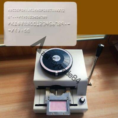 72-character Manual Stamping Machine Pvcidcredit Card Embosser Code Printer