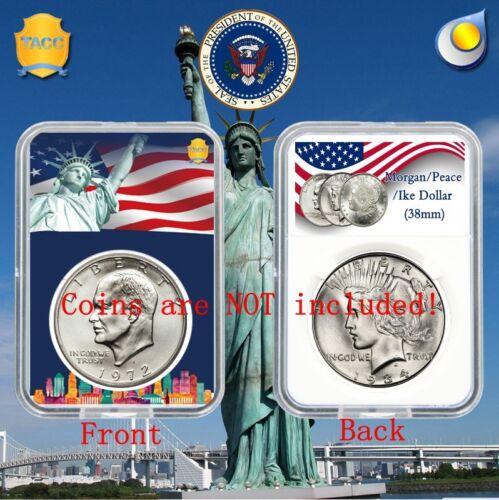 10 X  Coin Slab Display Holder Storage 38mm for MORGAN,PEACE,IKE SILVER DOLLAR