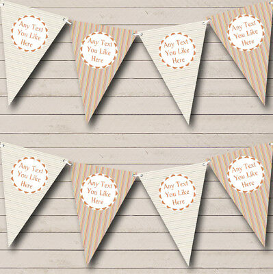 Party Banner Bunting Vertical Horizontal Stripes Personalised Birthday (Vertical Birthday Banners)