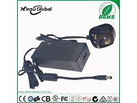 DOE level VI power adapter 12V 5A switching power supply with UL CE FCC PSE GS SAA CCC