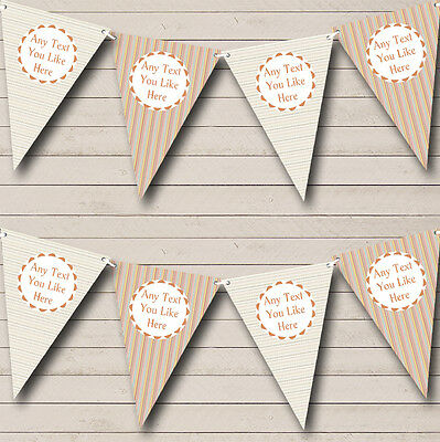 Vertical Horizontal Stripes Personalised Birthday Party Bunting Banner Garland (Vertical Birthday Banners)