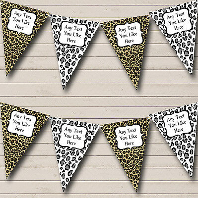 Leopard Print Funky Personalised Birthday Party Bunting Banner Garland](Leopard Birthday Banner)