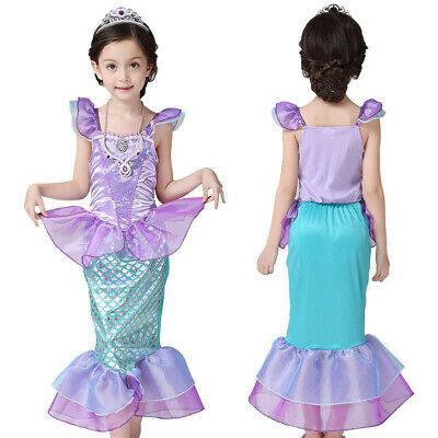 Mermaid Dress For Girls (Kids Girls Little Mermaid Ariel Princess Cosplay Costume Party Fancy Dress Up)
