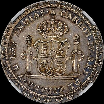 """""""RARE"""" UNLISTED BY KRAUSE MEXICO 1790 PROCLAMATION COLONIAL MEDAL NGC MS62 TONED"""