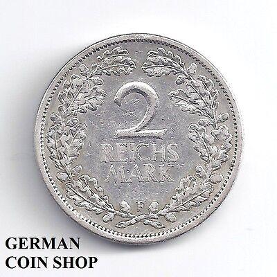 2 Reichsmark 1925 F - SILBER - Deutsches Reich Weimarer Republik