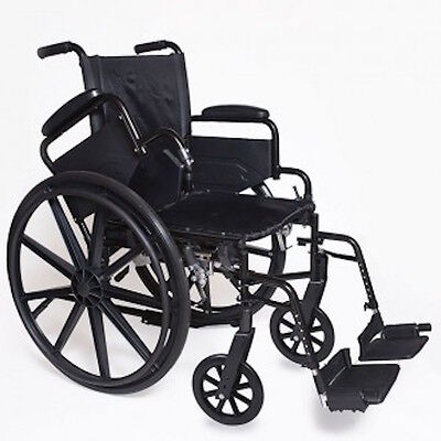 """Probasics Lightweight Wheelchair 18"""" Desk Length Arms & Footrests"""