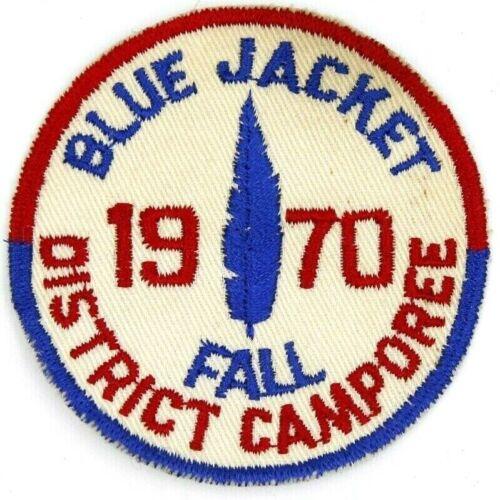 1970 Camporee Blue Jacket District Tecumseh Council Patch Boy Scouts BSA Ohio