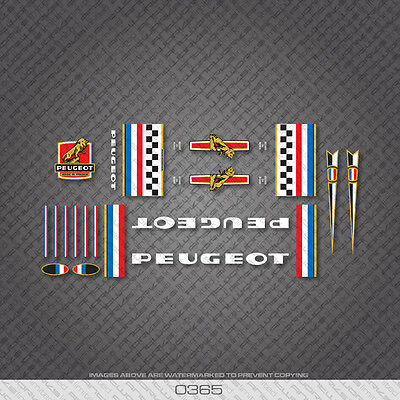 Transfer 07203 Peugeot Bicycle Frame Head Badge Sticker Decal