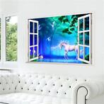Muursticker eenhoorn, unicorn poster, fantasy muur sticker
