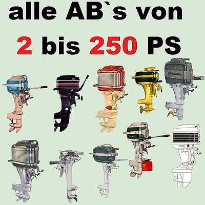 AUSSENBORDER von 2 bis 250 PS Reparatur & Wartung auf CD
