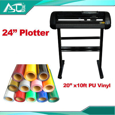 24 Cutting Plotter With Craftedge Software 10ft T-shirt Heat Transfer Vinyl