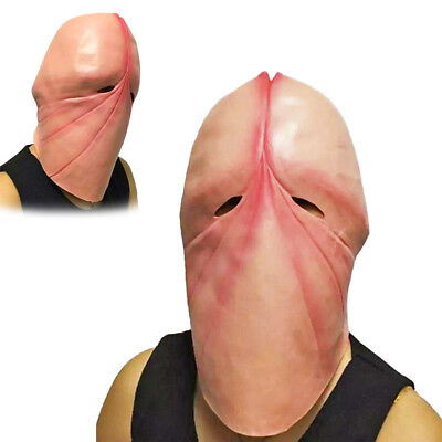 Funny Head Masks (Funny Latex Penis Dick Head Mask Halloween Prank Party Cosplay Costume Prop)