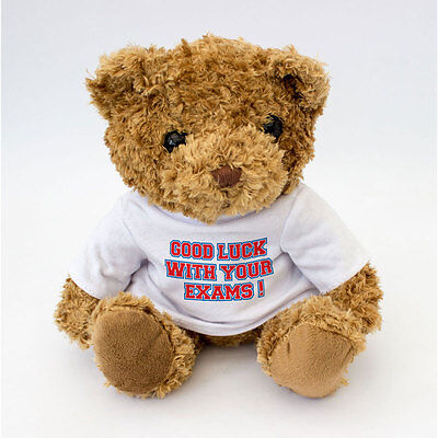 NEW - Good Luck With Your Exams Message Teddy Bear - Good Luck Gift For Exams ()