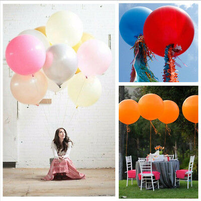 Purple And White Balloons (36 Inch Giant Round Light pink Purple White Yellow Orange Latex Balloons)